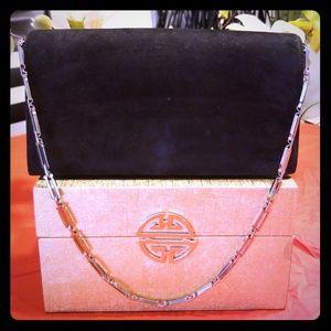 Salvatore Ferragamo black suede purse